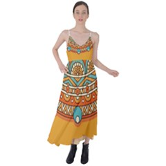 Sunshine Mandala Tie Back Maxi Dress