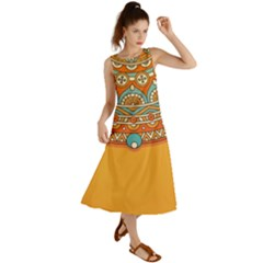 Sunshine Mandala Summer Maxi Dress