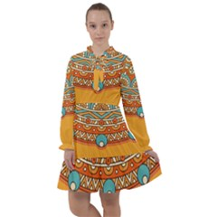 Sunshine Mandala All Frills Chiffon Dress