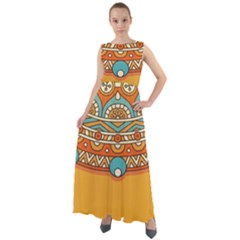 Sunshine Mandala Chiffon Mesh Boho Maxi Dress