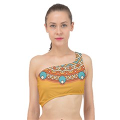 Sunshine Mandala Spliced Up Bikini Top