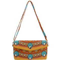Sunshine Mandala Removable Strap Clutch Bag