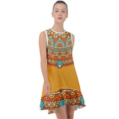 Sunshine Mandala Frill Swing Dress