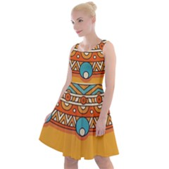 Sunshine Mandala Knee Length Skater Dress