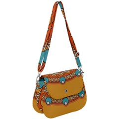 Sunshine Mandala Saddle Handbag