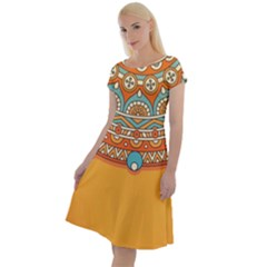 Sunshine Mandala Classic Short Sleeve Dress