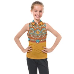 Sunshine Mandala Kids  Sleeveless Polo Tee