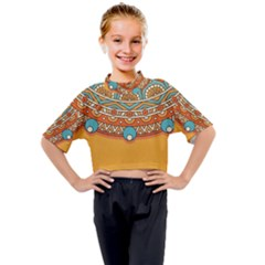 Sunshine Mandala Kids Mock Neck Tee