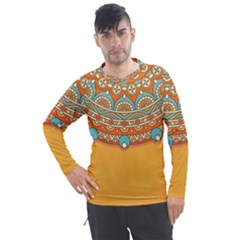 Sunshine Mandala Men s Pique Long Sleeve Tee