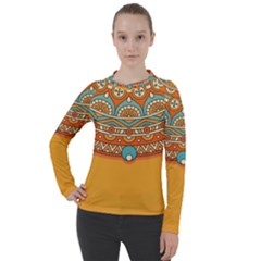 Sunshine Mandala Women s Pique Long Sleeve Tee