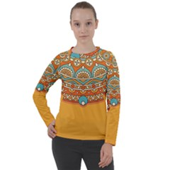 Sunshine Mandala Women s Long Sleeve Raglan Tee