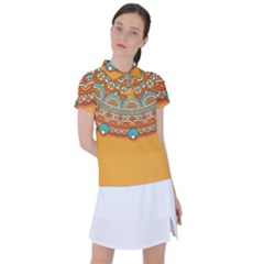 Sunshine Mandala Women s Polo Tee