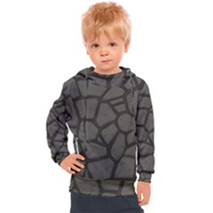 Cartoon Gray Stone Seamless Background Texture Pattern Kids  Hooded Pullover