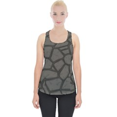Cartoon Gray Stone Seamless Background Texture Pattern Piece Up Tank Top