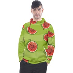 Seamless Background With Watermelon Slices Men s Pullover Hoodie