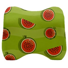 Seamless Background With Watermelon Slices Velour Head Support Cushion by BangZart
