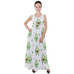 Cute Seamless Pattern With Avocado Lovers Empire Waist Velour Maxi Dress by BangZart