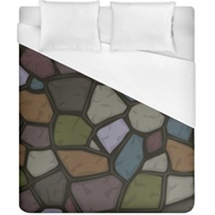Cartoon Colored Stone Seamless Background Texture Pattern   Duvet Cover (california King Size)