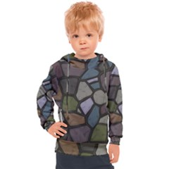 Cartoon Colored Stone Seamless Background Texture Pattern   Kids  Hooded Pullover