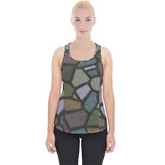 Cartoon Colored Stone Seamless Background Texture Pattern   Piece Up Tank Top