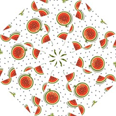Seamless-background-pattern-with-watermelon-slices Hook Handle Umbrellas (large) by BangZart