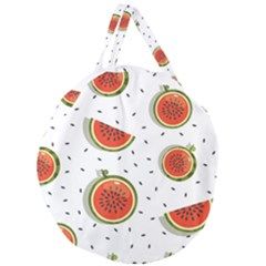 Seamless-background-pattern-with-watermelon-slices Giant Round Zipper Tote