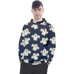 Hand Drawn Ghost Pattern Men s Pullover Hoodie