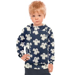 Hand Drawn Ghost Pattern Kids  Hooded Pullover