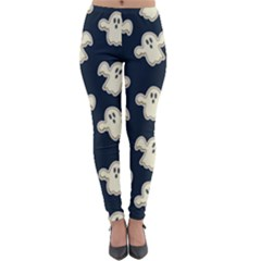 Hand Drawn Ghost Pattern Lightweight Velour Leggings by BangZart