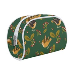 Cute Seamless Pattern Bird With Berries Leaves Makeup Case (small)