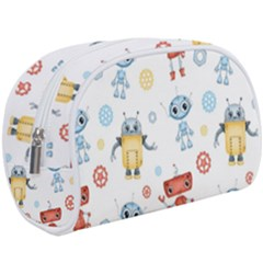Cute Cartoon Robots Seamless Pattern Makeup Case (large) by BangZart