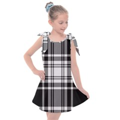 Pixel Background Design Modern Seamless Pattern Plaid Square Texture Fabric Tartan Scottish Textile Kids  Tie Up Tunic Dress