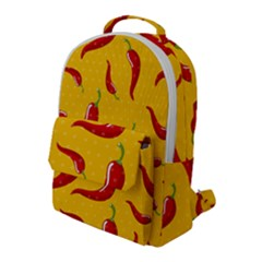 Chili Vegetable Pattern Background Flap Pocket Backpack (large) by BangZart