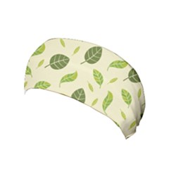 Leaf Spring Seamless Pattern Fresh Green Color Nature Yoga Headband