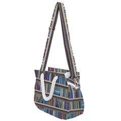 Bookshelf Rope Handles Shoulder Strap Bag