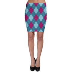 Argyle Pattern Seamless Fabric Texture Background Classic Argill Ornament Bodycon Skirt by BangZart