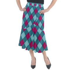 Argyle Pattern Seamless Fabric Texture Background Classic Argill Ornament Midi Mermaid Skirt