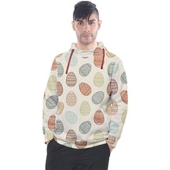 Seamless Pattern Colorful Easter Egg Flat Icons Painted Traditional Style Men s Pullover Hoodie