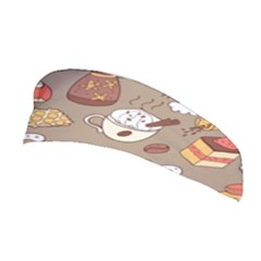 Vector Seamless Pattern With Doodle Coffee Equipment Stretchable Headband