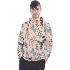 Watercolor Floral Seamless Pattern Men s Pullover Hoodie