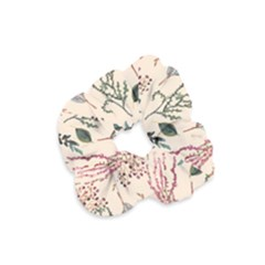 Watercolor Floral Seamless Pattern Velvet Scrunchie