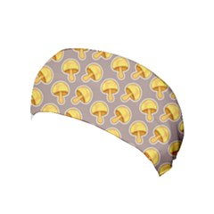 Yellow Mushroom Pattern Yoga Headband