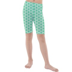 Polka Dots Mint Green, Pastel Colors, Retro, Vintage Pattern Kids  Mid Length Swim Shorts by Casemiro