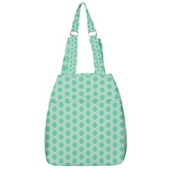 Polka Dots Mint Green, Pastel Colors, Retro, Vintage Pattern Center Zip Backpack by Casemiro