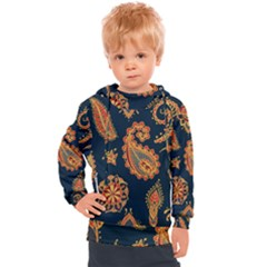 Bright Seamless Pattern With Paisley Mehndi Elements Hand Drawn Wallpaper With Floral Traditional  Kids  Hooded Pullover