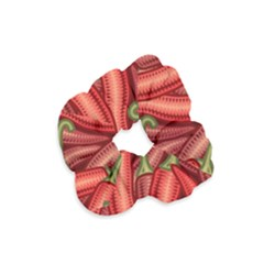 Seamless Chili Pepper Pattern Velvet Scrunchie