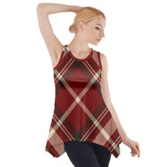 Tartan Scotland Seamless Plaid Pattern Vector Retro Background Fabric Vintage Check Color Square Side Drop Tank Tunic