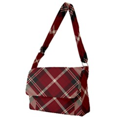 Tartan Scotland Seamless Plaid Pattern Vector Retro Background Fabric Vintage Check Color Square Full Print Messenger Bag (l)