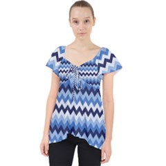 Zigzag Pattern Seamless Zig Zag Background Color Lace Front Dolly Top