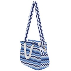 Zigzag Pattern Seamless Zig Zag Background Color Rope Handles Shoulder Strap Bag